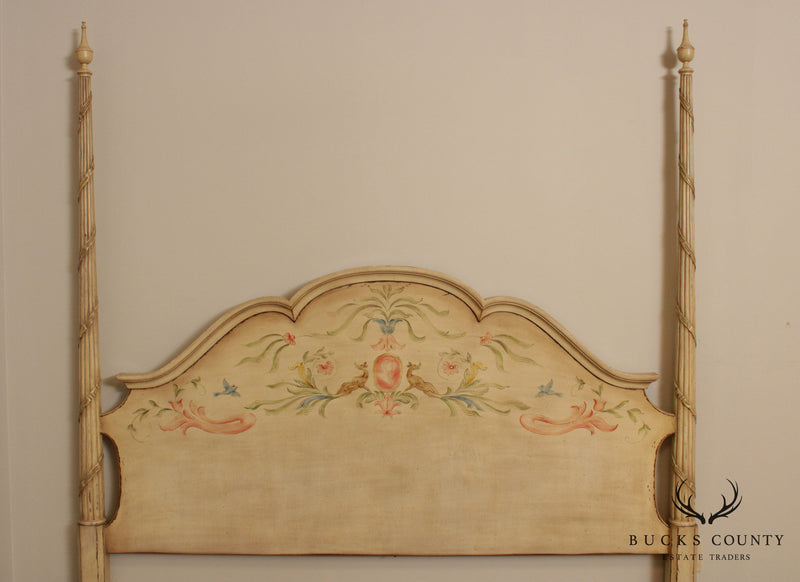 Karges Hand Painted Custom Size Tall Poster Bed