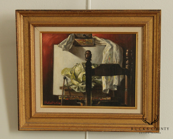 Robert White Still Life Framed Oil Painting