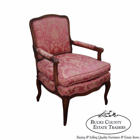 Vintage French Louis XV Style Petite Fauteuil Arm Chair