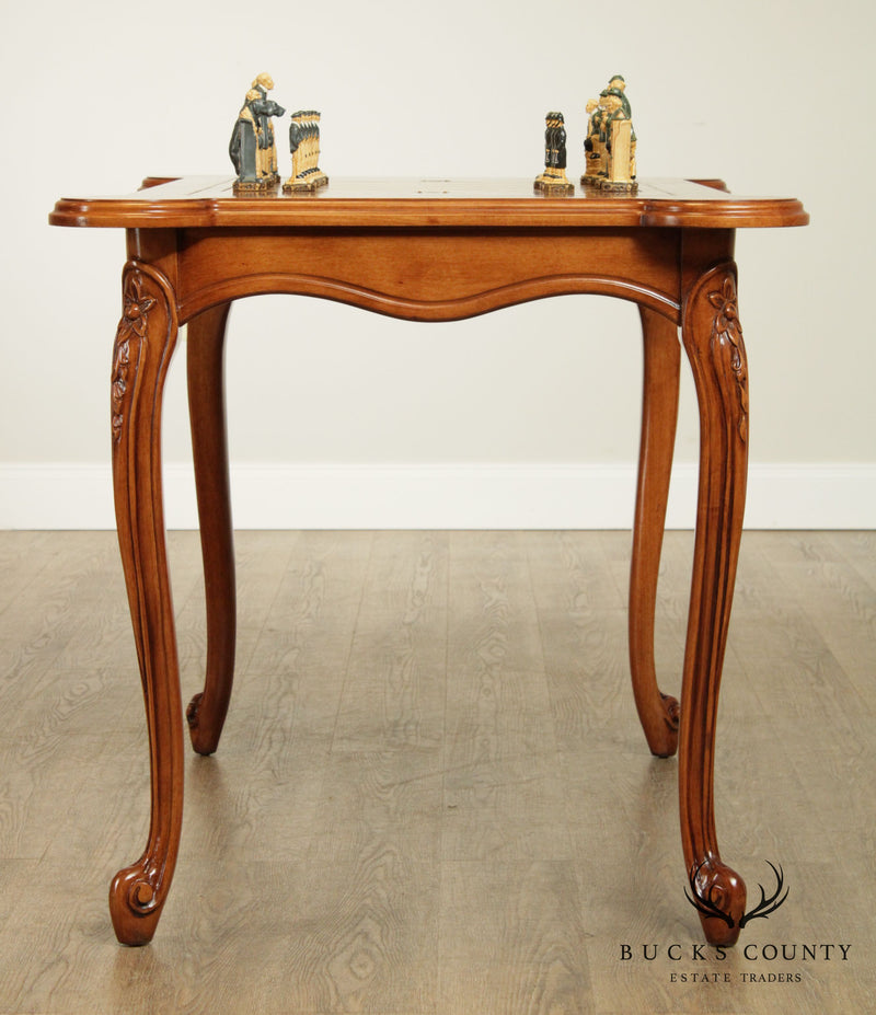 French Louis XV Style Cherry Game Table