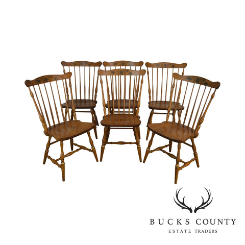 Hitchcock Traditional Set of 6 Windsor Dining Chairs