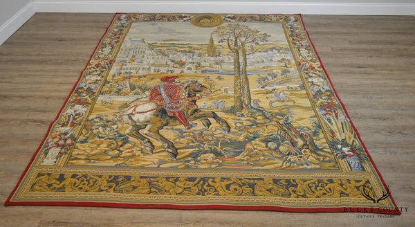 "Tapestries LTD. Large Hand Woven Renaissance Style Wall Hanging 83"" x 107"""