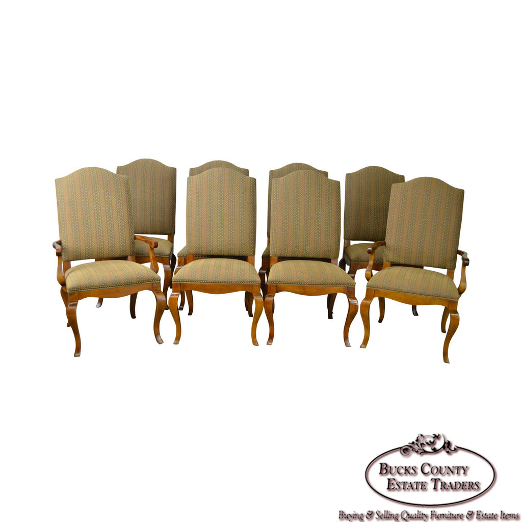 Sam Moore Furniture French Louis XV Style Bergere Chair W/ Ottoman