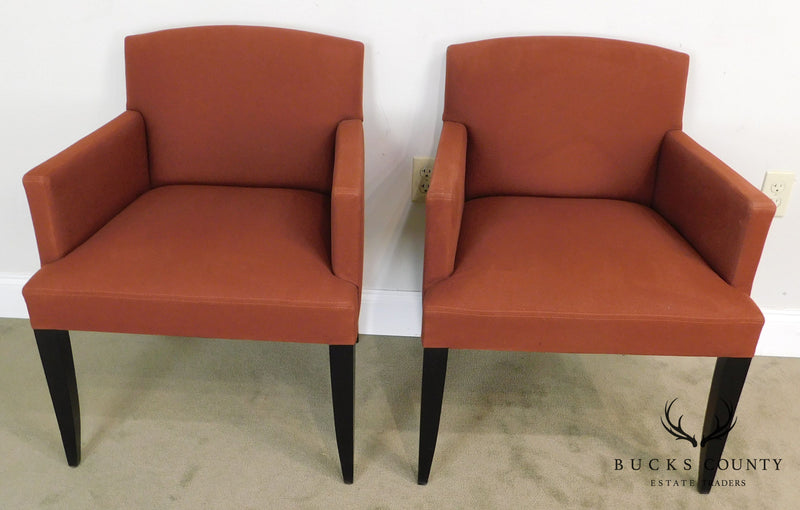 Modenature Classic Modern French Art Deco Style Pair Bergere Chairs (A)