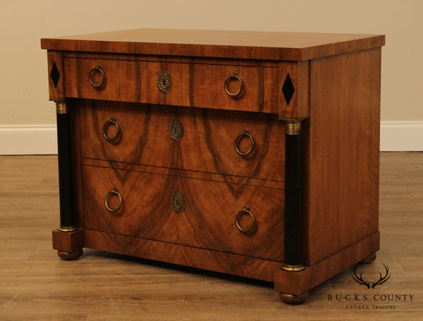 Baker French Empire Style Vintage Walnut Side Chest