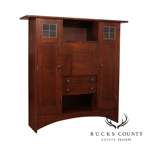 Stickley Mission Oak Harvey Ellis Fall Front Bookcase Desk