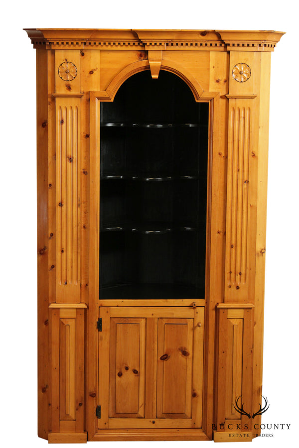 Stephen Von Hohen Books Country Collection Custom Pine Corner Cabinet