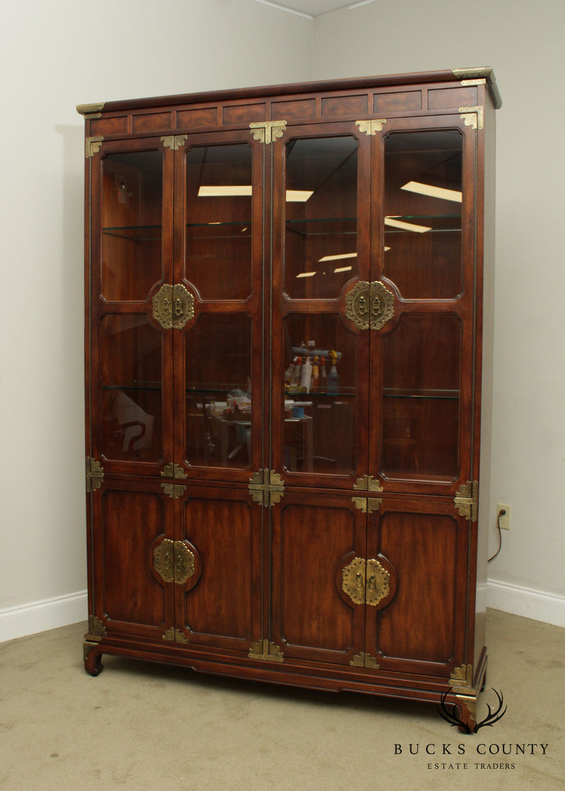 "Henredon ""Pan Asian"" Collection Mahogany China Display Cabinet"