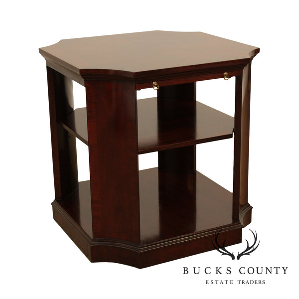 Regency Style Mahogany Bookcase Side Table