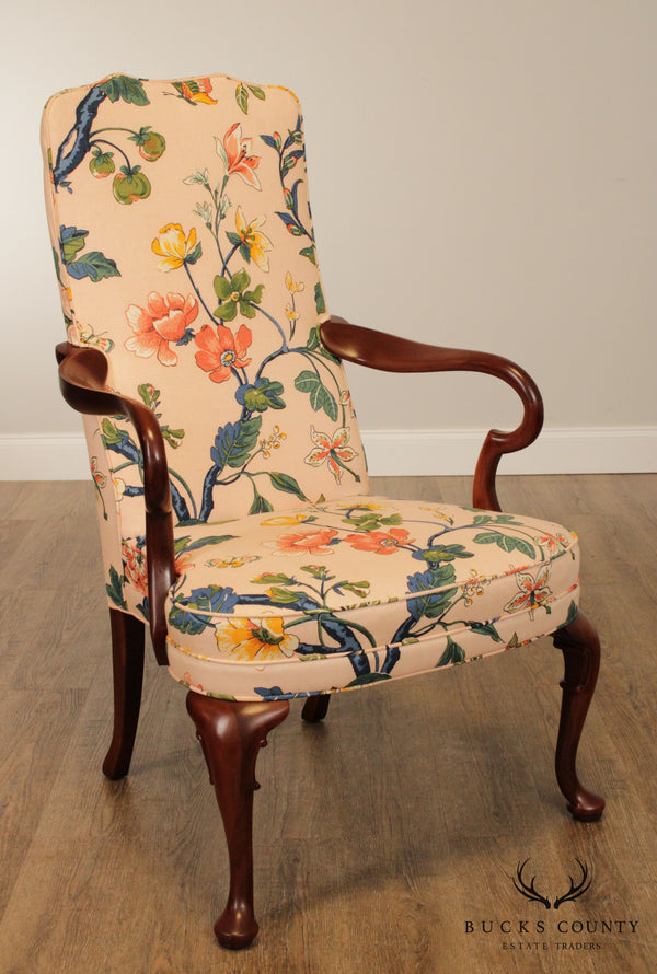 Hickory Chair Co. Mahogany Queen Anne Armchair