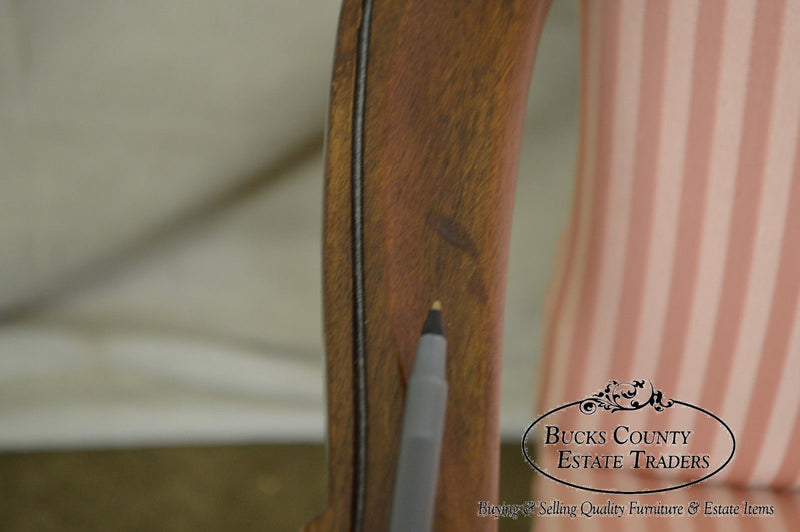 Hickory Chair Solid Mahogany Georgian Style Arm Chair