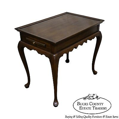 Harden Solid Cherry Wood Queen Anne Style Tea Table