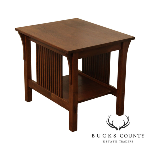 Stickley Mission Collection Oak Spindle Side Table (B)