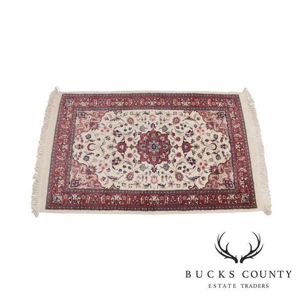 Vintage Hand Woven Wool Throw Rug
