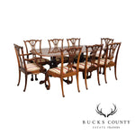 Chippendale Style Custom Mahogany Ball & Claw Dining Table and 8 Chairs Set