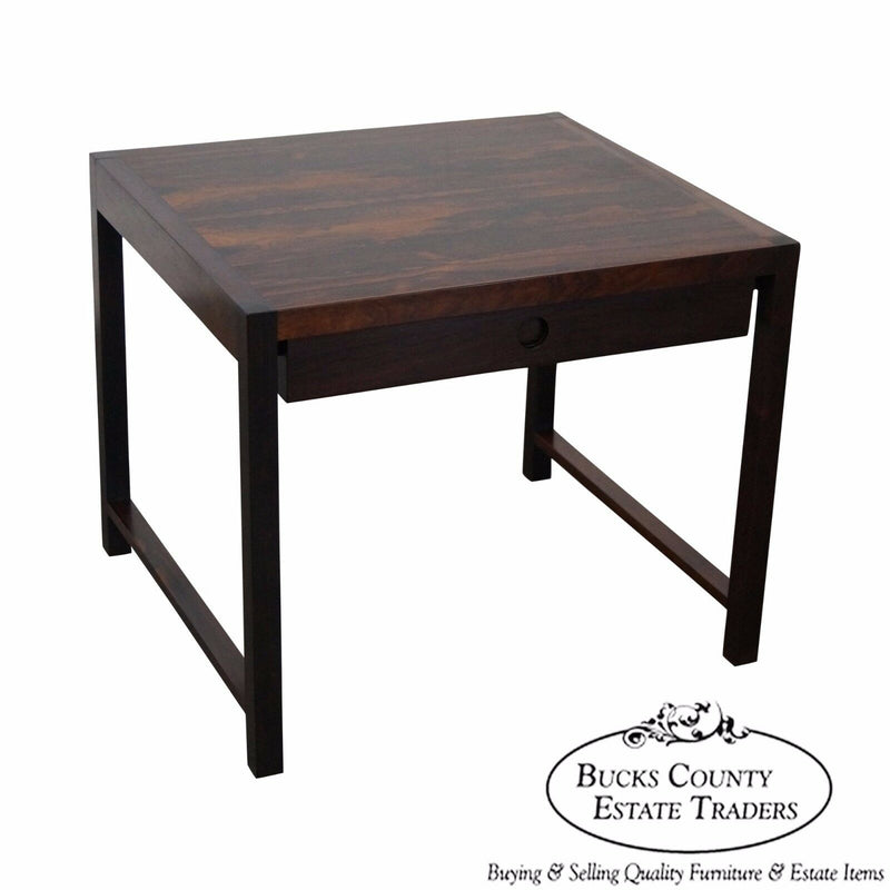 Danish Modern Rosewood 1 Drawer End Table by Brode Blindheim for Sykkylven