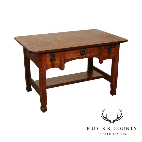Stickley Brothers Antique Mission Oak Arts & Crafts Period Desk