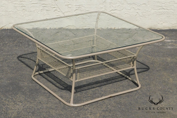 Woodard Sculptura Glass Top Patio Coffee Table