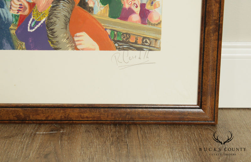"Robert Cenedella ""2001- A Stock Odyssey"" Pencil Signed Giclée, Large Framed Fine Art Print"