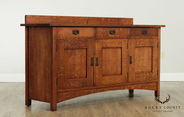 Mission Style Hand Crafted Solid Oak Sideboard