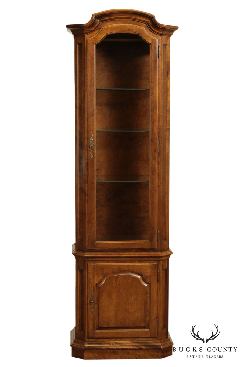 Ethan Allen Vintage Maple Curio Display Cabinet