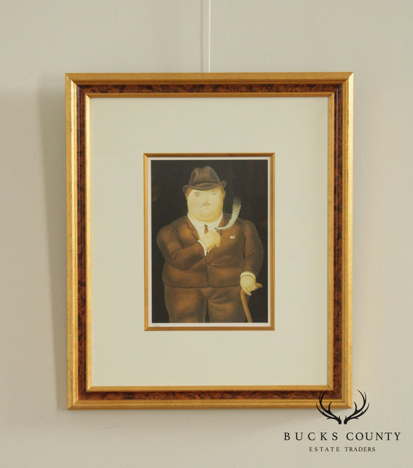 Fernando Botero 'Smoking' Limited Edition Framed Lithograph