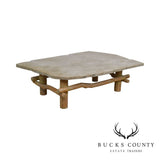Unusual Faux Branch Large Stone Top Coffee Table