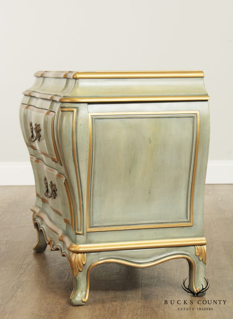 Karges Louis XV Style Bombe Bedside Chest Nightstand