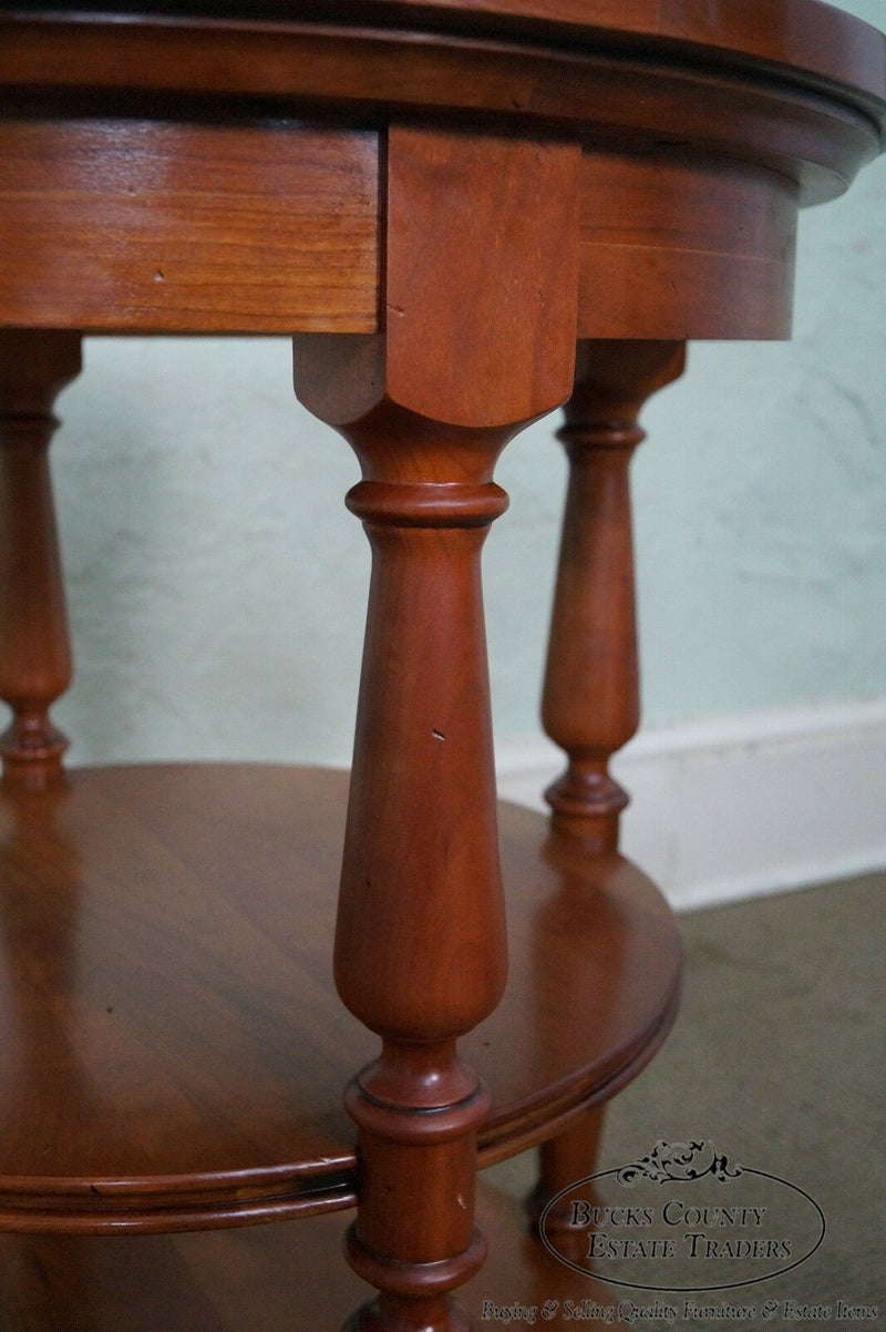 Harden Pair of Solid Cherry 3 Tier Side Tables (B)