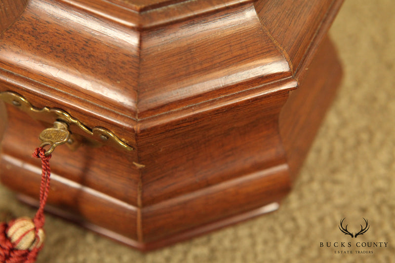 Colonial Williamsburg Vintage Mahogany Tea Caddy