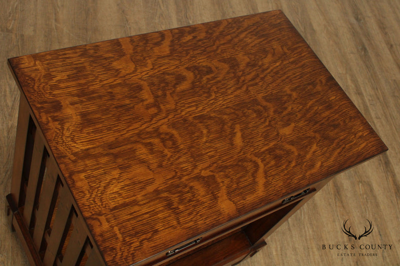 Mission Style Oak One Drawer Open Nightstand
