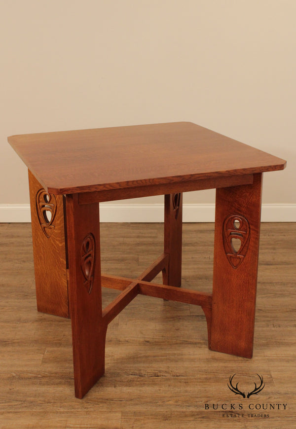 Stickley Mission Collection Oak Argyle Street Bistro Table