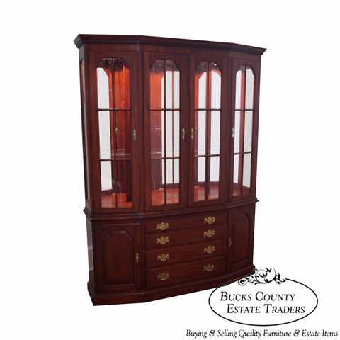 Henkel Harris Solid Cherry China Cabinet Breakfront