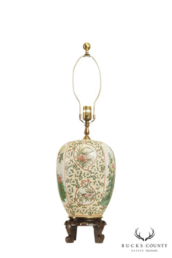 Kaiser Kuhn Lighting Quality Asian Porcelain Table Lamp