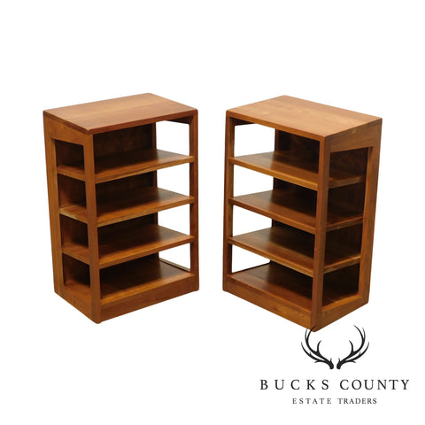 Levenger Solid Cherry Pair Magazine Stands, Bookcases