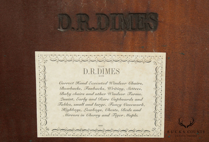 D. R. Dimes Tiger Maple Spanish Foot Tavern Table