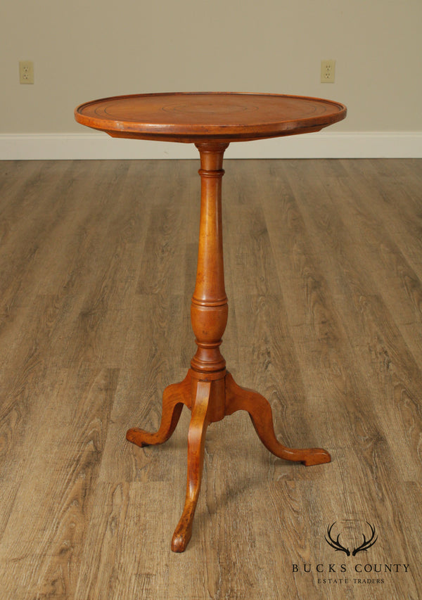 Antique 19th Century Maple Snake Foot Candlestand