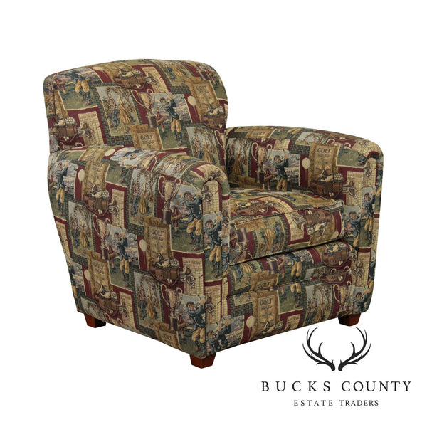 Thomasville Golf Print Upholstered Lounge Chair