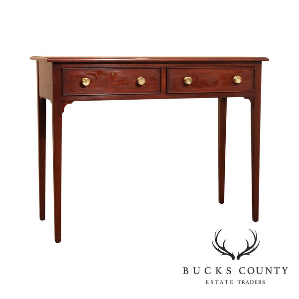 Southampton Hepplewhite Style Mahogany 2 Drawer Console Table