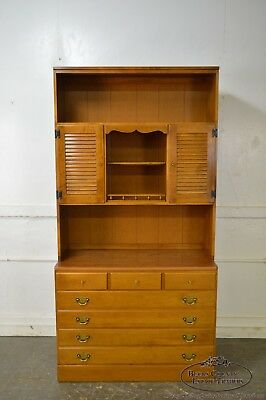 Ethan Allen Custom Room Plan Maple Hutch Top Chest of Drawers
