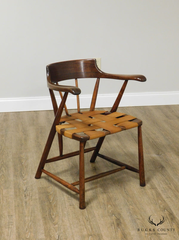Wharton Esherick Sculpted Walnut Captain's Chair