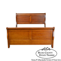 Lexington Traditional Cherry Wood Queen Size Sleigh Bed