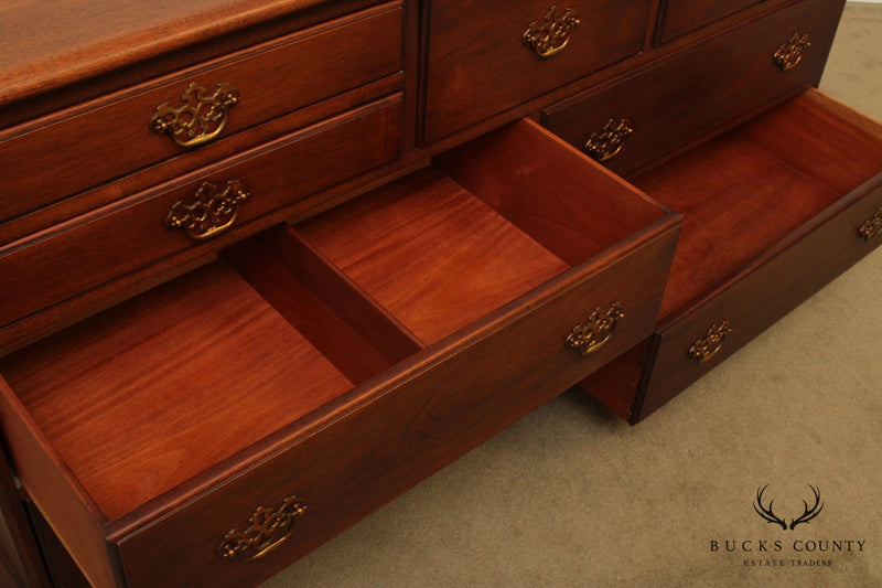 Georgetown Galleries Vintage Solid Mahogany 9 Drawer Dresser