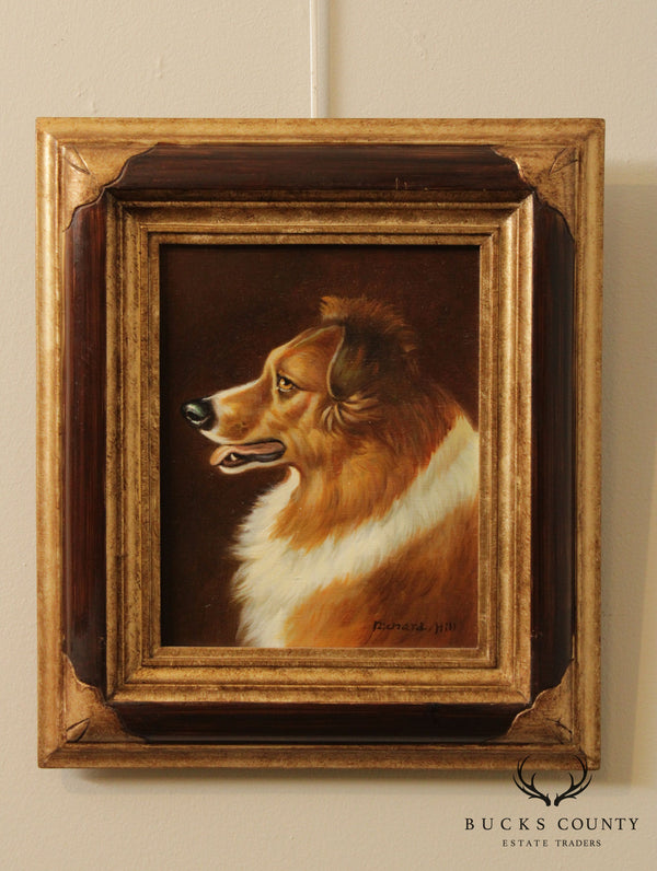 Richard Hill Dog Portrait Framed Oil Painting (A)