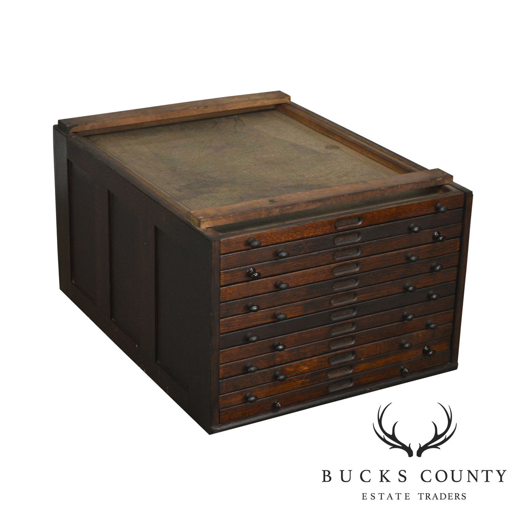 Antique Oak Map Cabinet Section – Bucks County Estate Traders on map ceiling, map furniture, map of utah, map of materials in a warehouse, map data, map car, map nursery, map mars, map display,
