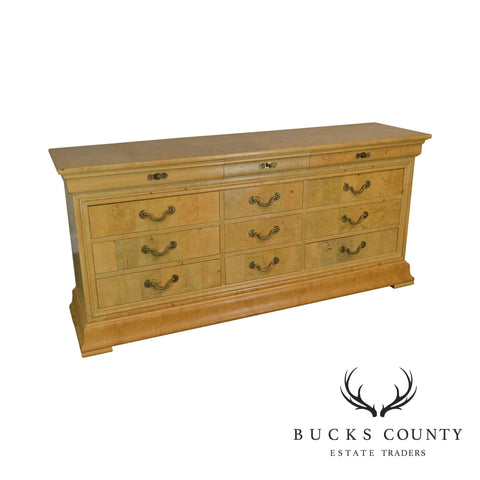 Henredon Charles X Collection Burlwood Long Dresser