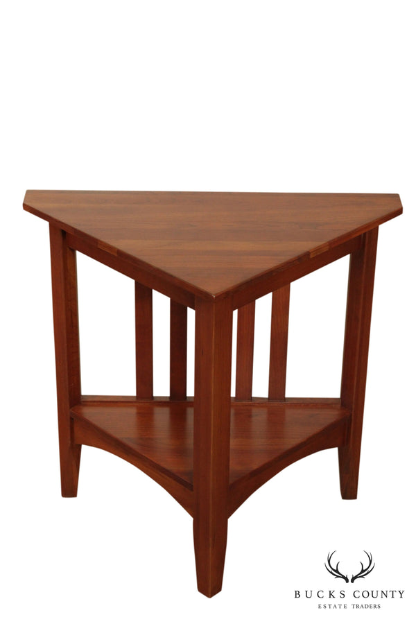 Ethan Allen American Impressions Solid Cherry Corner or Triangular Side Table
