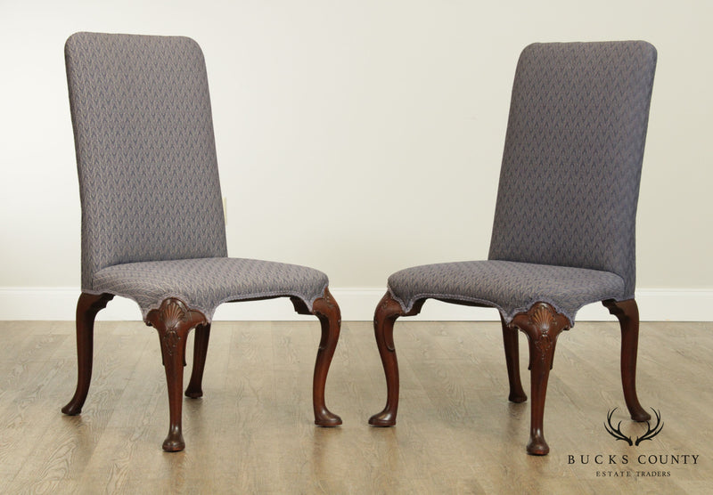 Kittinger Colonial Williamsburg Collection Pair Mahogany Side Chairs