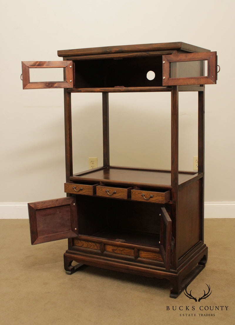 Asian Style Etagere Tiered Cabinet