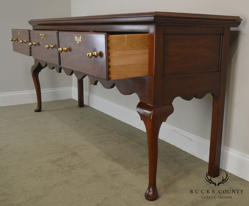 Henkel Harris Jamestown Colony Cherry Queen Anne Sideboard
